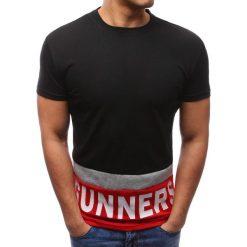 T-shirty męskie z nadrukiem: T-shirt męski z nadrukiem czarny (rx2689)