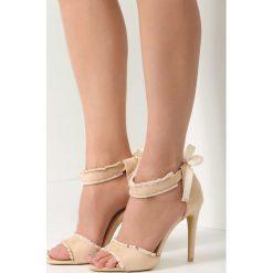 Sandały damskie: Beżowe Sandały Heart Beat