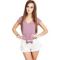 Piżamy damskie: Piżama w kolorze wrzosowo-beżowym