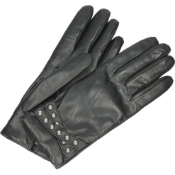 Rękawiczki - 7027 L NERO. Brązowe rękawiczki damskie marki Roeckl. Za 299,00 zł.