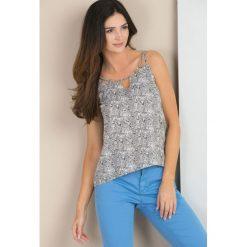 Bluzki asymetryczne: Wzorzysta bluzka na ramiączkach
