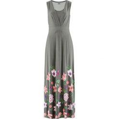 Sukienki: Długa sukienka bonprix szary w kwiaty