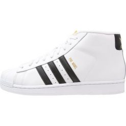 Adidas Originals PRO MODEL Tenisówki i Trampki wysokie white. Białe tenisówki damskie marki adidas Originals, z materiału. W wyprzedaży za 359,20 zł.