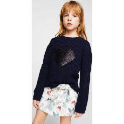 Mango Kids - Szorty dziecięce Judy 110-152 cm. Szare spodenki dziewczęce Mango Kids, z bawełny, casualowe. W wyprzedaży za 49,90 zł.