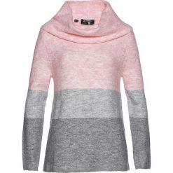 Sweter z golfem bonprix pastelowy jasnoróżowy - szary melanż - jasnoszary - jasnoszary melanż. Czerwone golfy damskie bonprix, melanż. Za 109,99 zł.