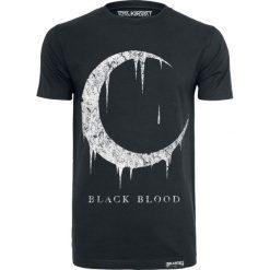 Black Blood Blood Moon T-Shirt czarny. Niebieskie t-shirty męskie z nadrukiem marki Reserved, l, z okrągłym kołnierzem. Za 79,90 zł.