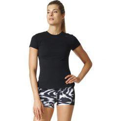 KOSZULKA - KR.REKAW BLACK PRIME TEE. Białe bluzki damskie marki Adidas, z bawełny, z długim rękawem, długie. Za 54,99 zł.