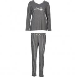 """Piżama """"Soft Dreams"""" w kolorze szarym. Białe piżamy damskie marki LASCANA, w koronkowe wzory, z koronki. W wyprzedaży za 104,95 zł."""