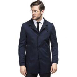 Płaszcz FLORIANO PSGS000064. Niebieskie płaszcze na zamek męskie Giacomo Conti, m, z bawełny. Za 699,00 zł.