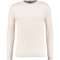 Swetry klasyczne męskie: Topman MUSCLE FIT Sweter stone