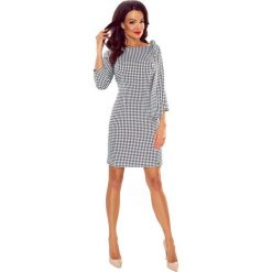 Odzież damska: Mini Sukienka z Modnymi Detalami w Dużą Pepitkę