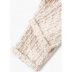 Mango Kids - Spodnie dziecięce 80-104 cm. Szare rurki dziewczęce Mango Kids, z bawełny. W wyprzedaży za 49,90 zł.
