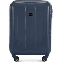 Walizka kabinowa 56-3A-371-90. Niebieskie walizki marki Wittchen, z gumy, małe. Za 159,00 zł.