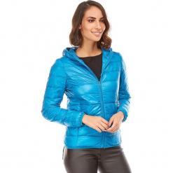 Kurtka puchowa w kolorze niebieskim. Niebieskie kurtki damskie pikowane marki Snowie Collection, s, z puchu. W wyprzedaży za 159,95 zł.