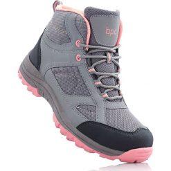 Buty skate męskie: Wysokie buty outdoorowe bonprix szaro-łososiowy