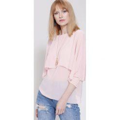 Bluzki damskie: Różowa Bluzka Time Goes By