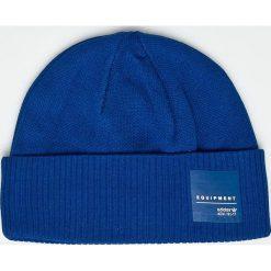Adidas Originals - Czapka. Niebieskie czapki zimowe męskie adidas Originals, z bawełny. W wyprzedaży za 99,90 zł.