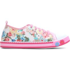 Różowe Trampki Pinky Rings. Czerwone buty sportowe dziewczęce Born2be, z materiału, z okrągłym noskiem, na sznurówki. Za 39,99 zł.