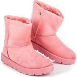 Buty zimowe damskie: ŚNIEGOWCE Z ODPINANYMI USZKAMI I POMPONEM