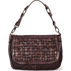 Torebki klasyczne damskie: Skórzana torebka w kolorze brązowym – 30 x 22 x 11 cm