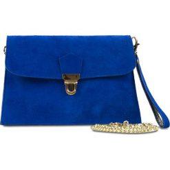 """Puzderka: Skórzana kopertówka """"Shelby"""" w kolorze niebieskim – 23 x 15 x 1 cm"""