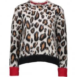 Sweter w kolorze brązowo-czarnym. Brązowe swetry klasyczne damskie Gottardi, s, ze splotem. W wyprzedaży za 217,95 zł.