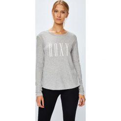 Roxy - Bluzka. Szare bluzki z odkrytymi ramionami Roxy, m, z nadrukiem, z bawełny, z okrągłym kołnierzem. Za 99,90 zł.