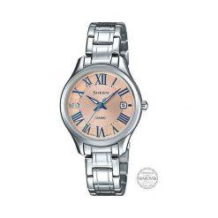 Zegarki damskie: Zegarek Sheen Damski SHE-4050D-9AUER Swarovski Mini srebrny