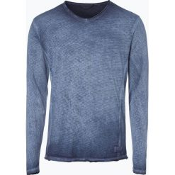 T-shirty męskie: Solid – Męska koszulka z długim rękawem – Maxen, niebieski
