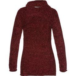 Swetry klasyczne damskie: Sweter z szenili bonprix czerwony klonowy