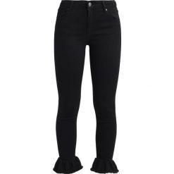 2ndOne NICOLE CROP Jeans Skinny Fit black ruffle. Czarne jeansy damskie 2ndOne, z bawełny. Za 299,00 zł.