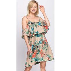 Sukienki: Ciemnobeżowa Sukienka Orange Juice