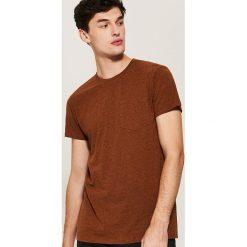 T-shirt basic z kieszonką - Żółty. Żółte t-shirty męskie House, l. Za 35,99 zł.