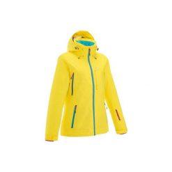 Kurtka narciarska i snowboardowa FREE 500 damska. Żółte kurtki damskie marki WED'ZE, xs, z materiału. W wyprzedaży za 279,99 zł.