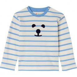 Koszulka w kolorze niebiesko-kremowym. Białe t-shirty chłopięce z długim rękawem marki UP ALL NIGHT, z bawełny. W wyprzedaży za 49,95 zł.