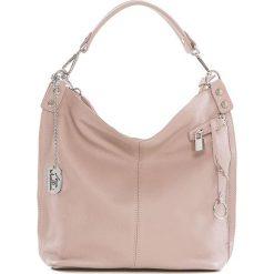 Torebki klasyczne damskie: Skórzana torebka w kolorze jasnoróżowym – 30 x 30 x 12 cm