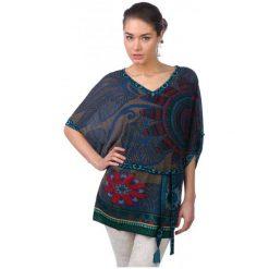 Swetry damskie: Desigual Sweter Damski Saron S Niebieski