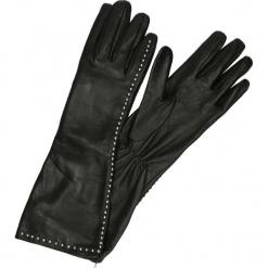 Rękawiczki - LP14-6P S J18. Czarne rękawiczki damskie Venezia, z jedwabiu. Za 319,00 zł.
