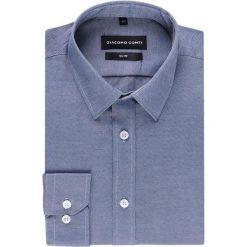 Koszula SIMONE KDGS000259. Szare koszule męskie na spinki Giacomo Conti, m, z bawełny, z włoskim kołnierzykiem, z długim rękawem. Za 149,00 zł.