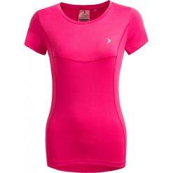 Koszulka treningowa damska TSDF600 - różowy - Outhorn. Niebieskie topy sportowe damskie marki KIPSTA, xl, z elastanu. W wyprzedaży za 39,99 zł.