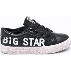 Big Star - Tenisówki dziecięce. Czarne buty sportowe dziewczęce marki BIG STAR, z gumy, na sznurówki. W wyprzedaży za 89,90 zł.