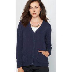 Sweter rozpinany z długimi rękawami z akrylu. Czarne swetry rozpinane damskie Anne weyburn. Za 209,96 zł.