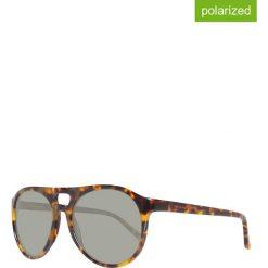 Okulary przeciwsłoneczne męskie: Okulary męskie w kolorze brązowo-szarym