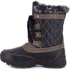 """Buty zimowe damskie: Kozaki """"Barbara"""" w kolorze czarnym"""