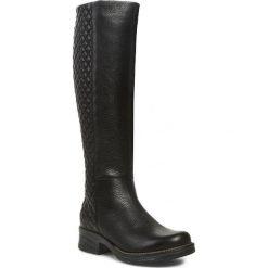 Kozaki GINO ROSSI - Nuvola DKG039-F41-17SS-9999-F Czarny. Czarne buty zimowe damskie marki Gino Rossi, z materiału, na obcasie. W wyprzedaży za 389,00 zł.