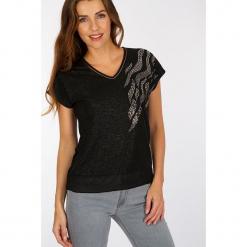 """Koszulka """"Mulan"""" w kolorze czarnym. Czarne t-shirty damskie marki Scottage. W wyprzedaży za 58,95 zł."""