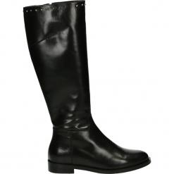 Kozaki - 19770 BUF BLA. Czarne buty zimowe damskie Venezia, ze skóry. Za 749,00 zł.