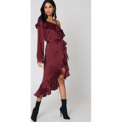 Długie sukienki: Hot & Delicious Sukienka maxi z odkrytym ramieniem - Red