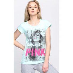 T-shirty damskie: Miętowy T-shirt Favourite