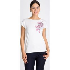 Bluzki damskie: Bluzka z różową gałęzią QUIOSQUE